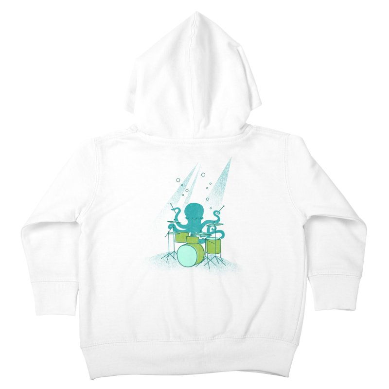 Under Sea Beats Kids Toddler Zip-Up Hoody by Jenny Tiffany's Artist Shop