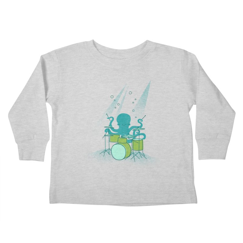 Under Sea Beats Kids Toddler Longsleeve T-Shirt by Jenny Tiffany's Artist Shop
