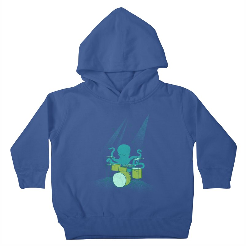 Under Sea Beats Kids Toddler Pullover Hoody by Jenny Tiffany's Artist Shop