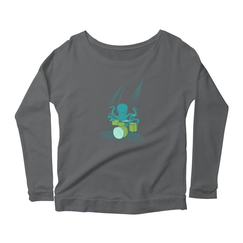 Under Sea Beats Women's Scoop Neck Longsleeve T-Shirt by Jenny Tiffany's Artist Shop