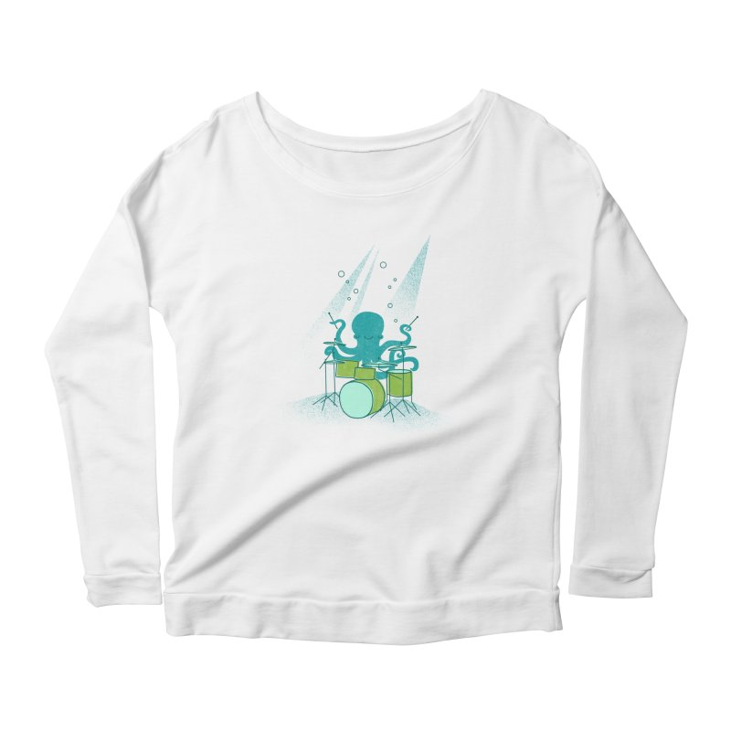 Under Sea Beats Women's Scoop Neck Longsleeve T-Shirt by Jenny Tiffany's Artist Shop