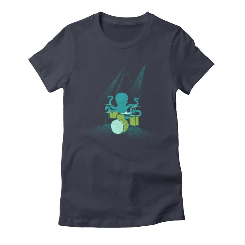 Under Sea Beats Women's Fitted T-Shirt by Jenny Tiffany's Artist Shop