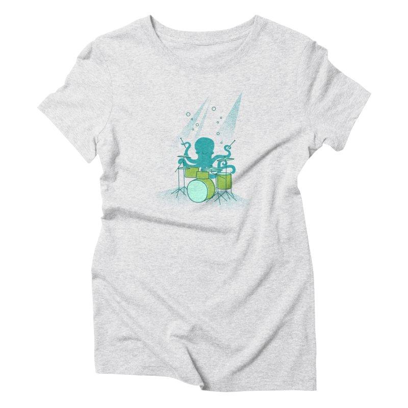 Under Sea Beats Women's Triblend T-Shirt by Jenny Tiffany's Artist Shop