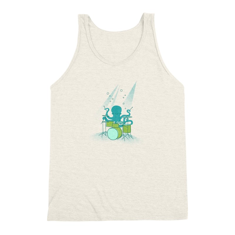 Under Sea Beats Men's Triblend Tank by Jenny Tiffany's Artist Shop