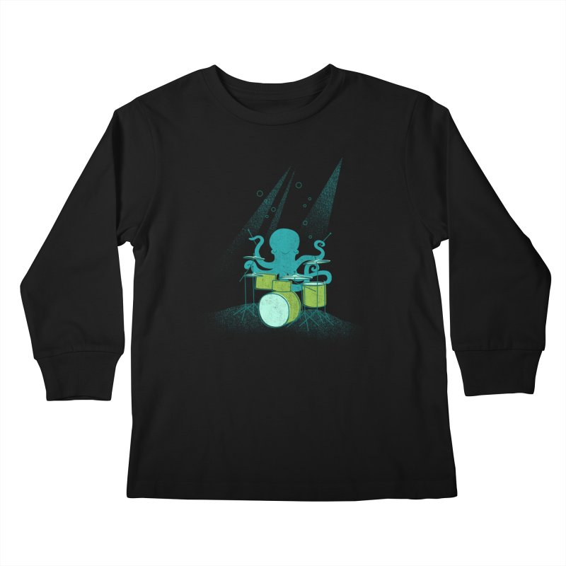 Under Sea Beats Kids Longsleeve T-Shirt by Jenny Tiffany's Artist Shop