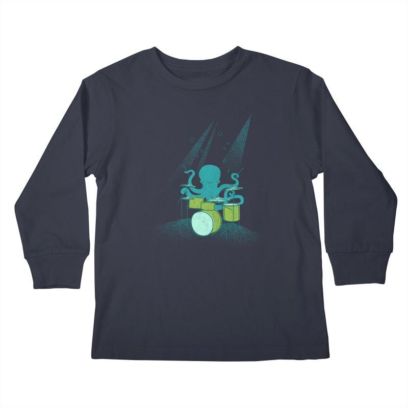 Under Sea Beats Kids Longsleeve T-Shirt by Jenny Tiffany's Artist Shop