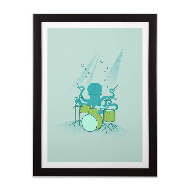 Under Sea Beats Home Framed Fine Art Print by Jenny Tiffany's Artist Shop