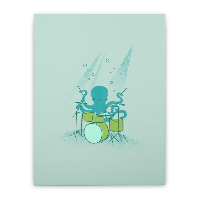 Under Sea Beats Home Stretched Canvas by Jenny Tiffany's Artist Shop