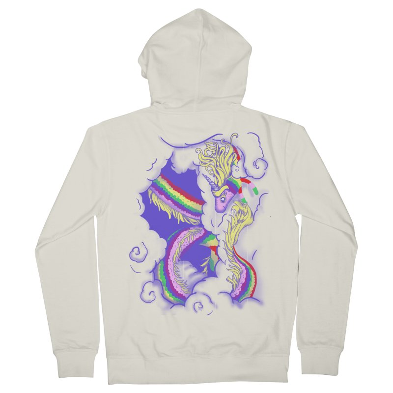 The Lady in the Sky Men's French Terry Zip-Up Hoody by jenshirt's Artist Shop