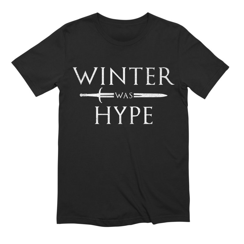 winter was hype in Men's Extra Soft T-Shirt Black by jerbing's Artist Shop
