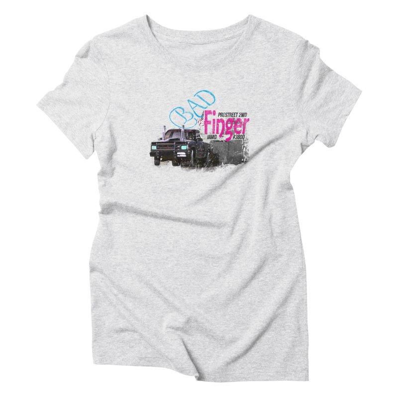 Bad Finger Women's Triblend T-shirt by jerbing's Artist Shop
