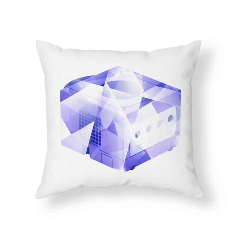 gamecubism Home Throw Pillow by jerbing's Artist Shop