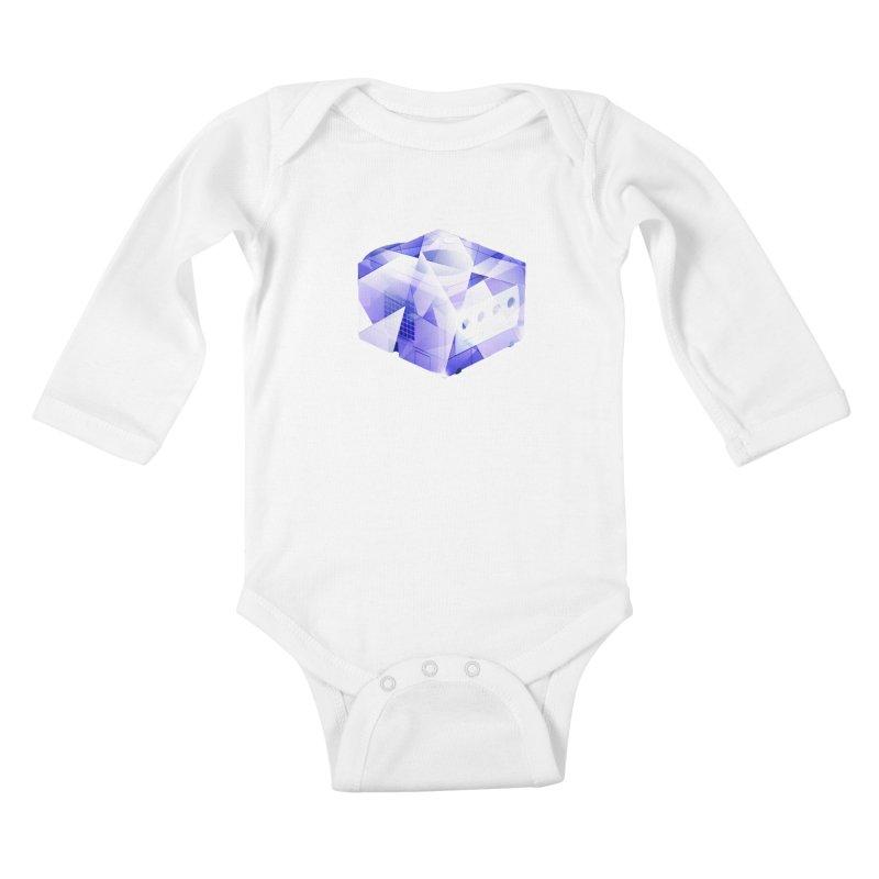 gamecubism Kids Baby Longsleeve Bodysuit by jerbing's Artist Shop