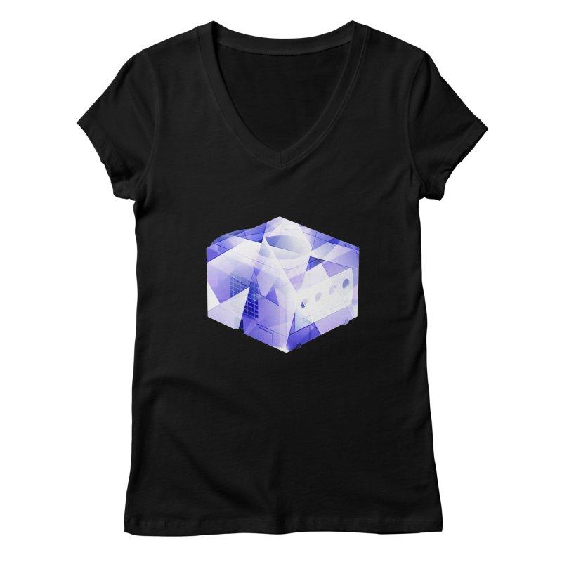 gamecubism Women's V-Neck by jerbing's Artist Shop