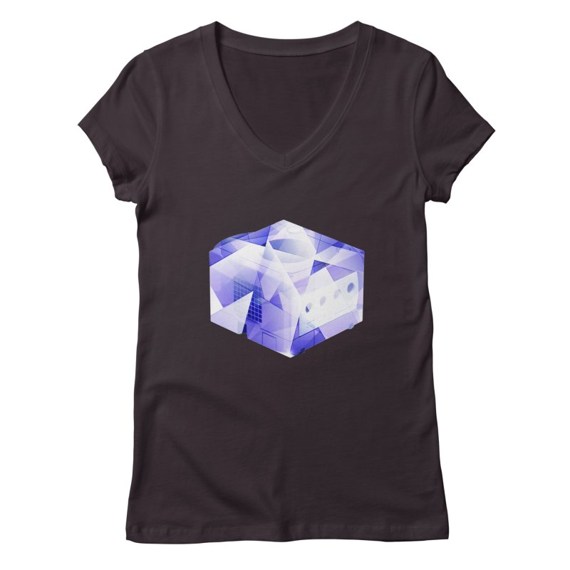 gamecubism Women's V-Neck by jerbing's Artist Shop