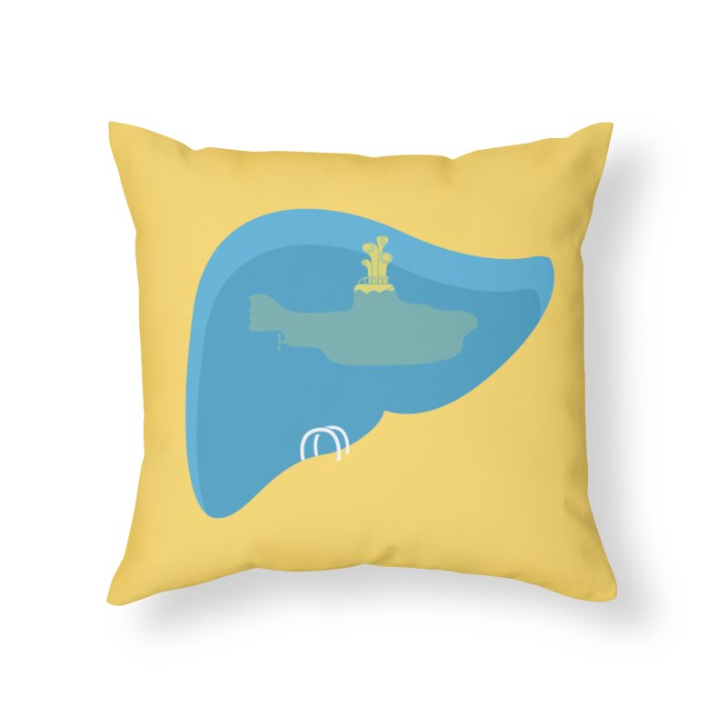 liverpool Home Throw Pillow by jerbing's Artist Shop