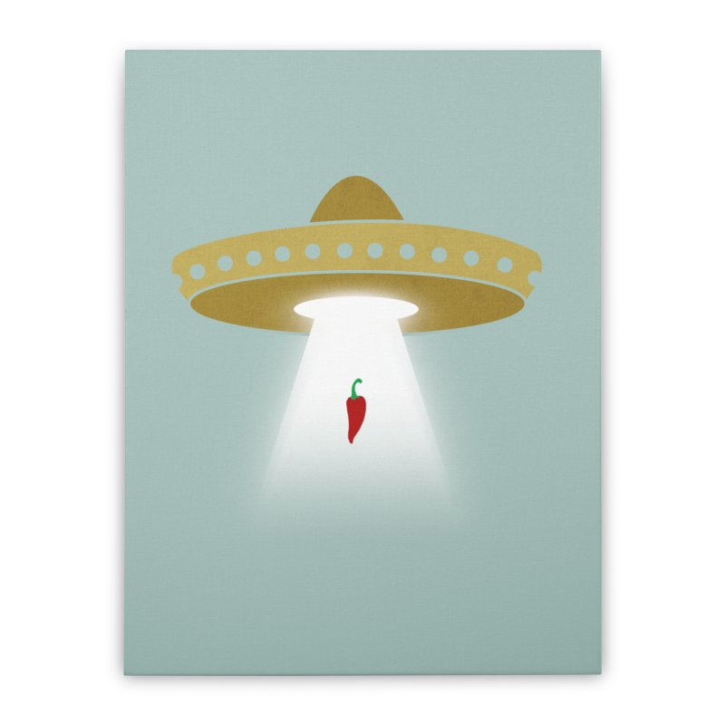 UFsombrerO Home Stretched Canvas by jerbing's Artist Shop