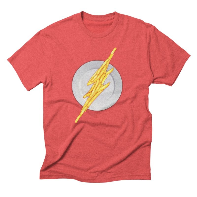 Flash Food Men's Triblend T-shirt by jerbing's Artist Shop