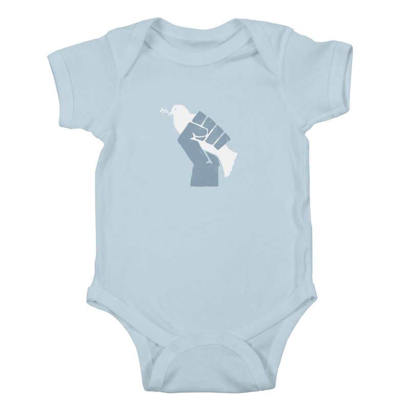 PEACE REVOLUTION Kids Baby Bodysuit by jerbing's Artist Shop