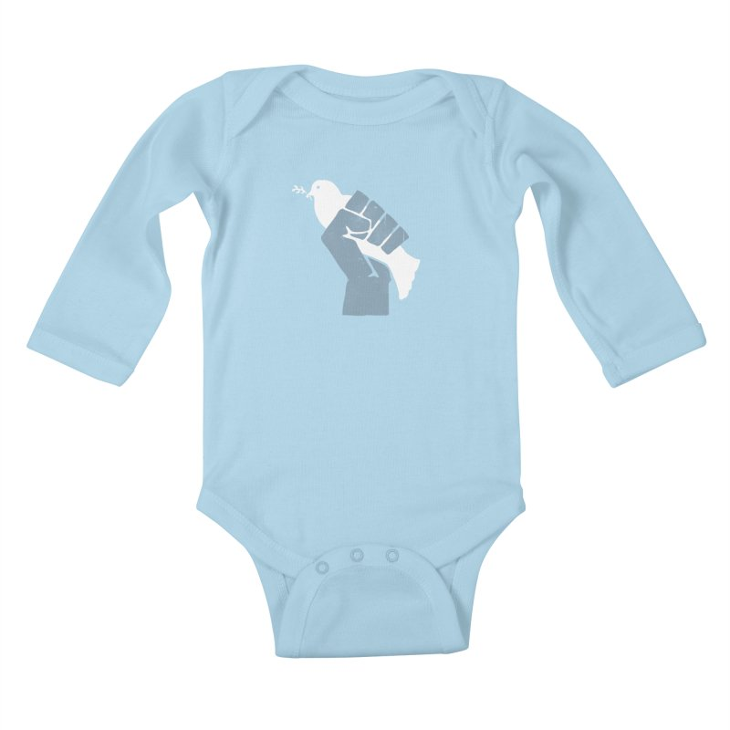 PEACE REVOLUTION Kids Baby Longsleeve Bodysuit by jerbing's Artist Shop