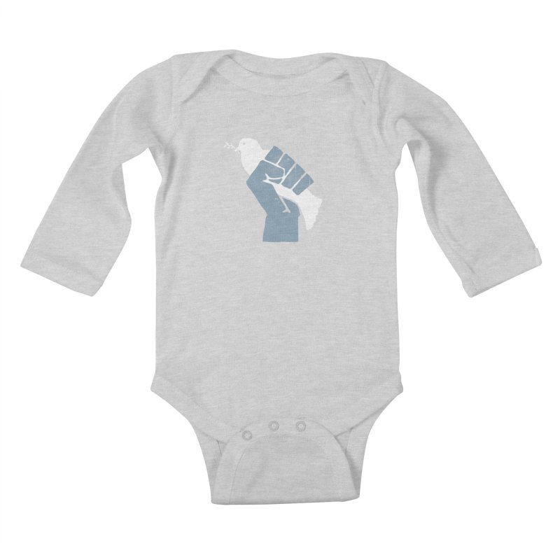 PEACE REVOLUTION Kids Baby Longsleeve Bodysuit by jerbing's Artist Shop