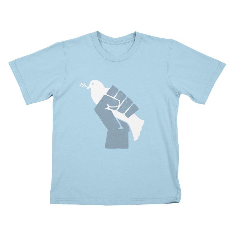 PEACE REVOLUTION Kids T-shirt by jerbing's Artist Shop