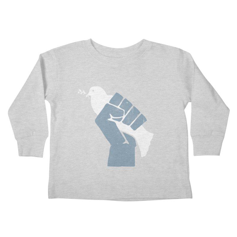 PEACE REVOLUTION Kids Toddler Longsleeve T-Shirt by jerbing's Artist Shop