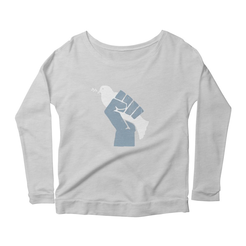 PEACE REVOLUTION Women's Longsleeve Scoopneck  by jerbing's Artist Shop