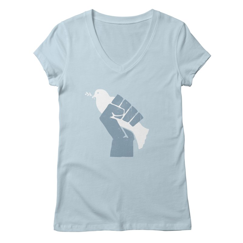 PEACE REVOLUTION Women's V-Neck by jerbing's Artist Shop