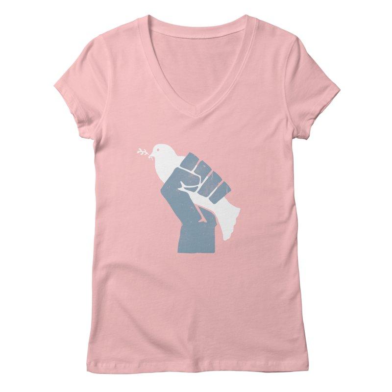 PEACE REVOLUTION Women's V-Neck by jerbing's Artist Shop