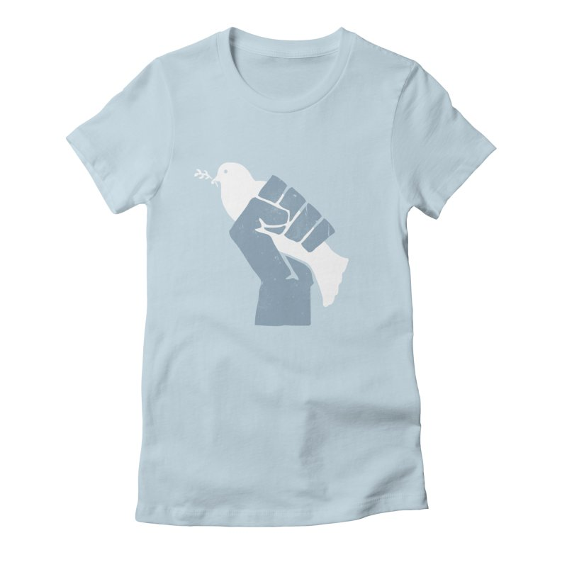PEACE REVOLUTION Women's Fitted T-Shirt by jerbing's Artist Shop
