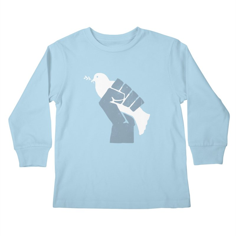 PEACE REVOLUTION Kids Longsleeve T-Shirt by jerbing's Artist Shop