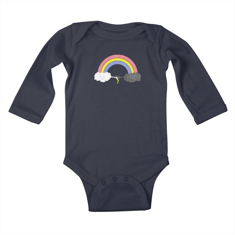 rain bros Kids Baby Longsleeve Bodysuit by jerbing's Artist Shop