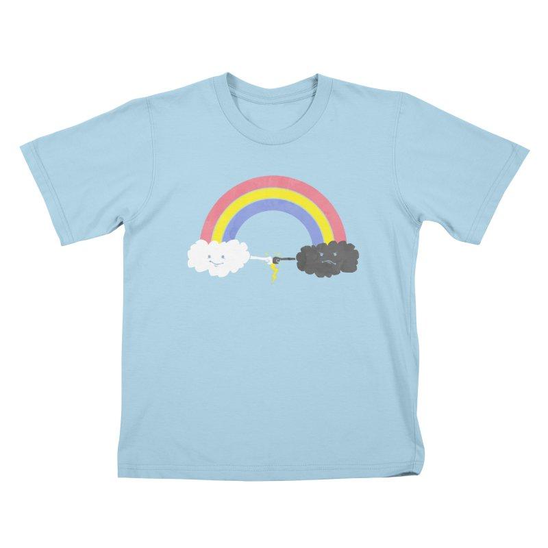 rain bros Kids T-shirt by jerbing's Artist Shop
