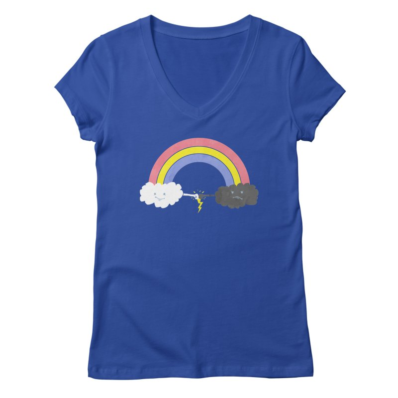 rain bros Women's V-Neck by jerbing's Artist Shop
