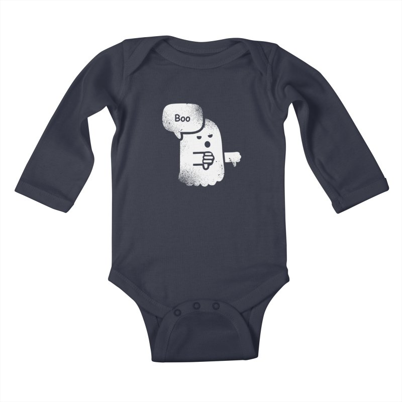 Heckler Ghost Kids Baby Longsleeve Bodysuit by jerbing's Artist Shop