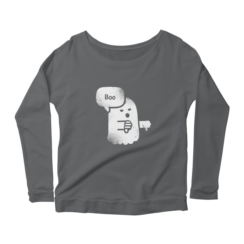 Heckler Ghost Women's Longsleeve Scoopneck  by jerbing's Artist Shop