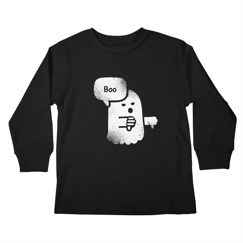 Heckler Ghost Kids Longsleeve T-Shirt by jerbing's Artist Shop