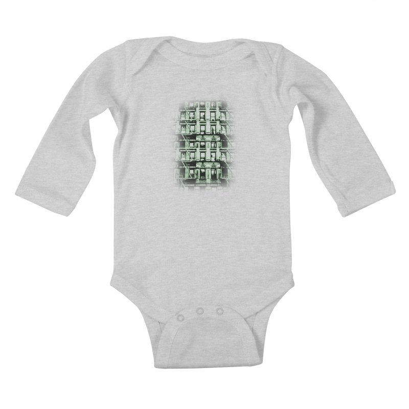 Paranormal Graffiti Kids Baby Longsleeve Bodysuit by jerbing's Artist Shop