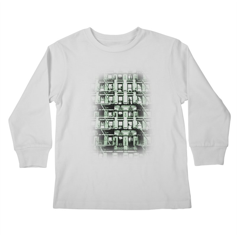 Paranormal Graffiti Kids Longsleeve T-Shirt by jerbing's Artist Shop