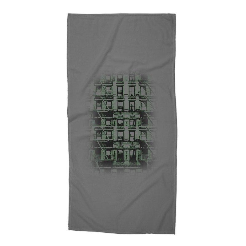Paranormal Graffiti Accessories Beach Towel by jerbing's Artist Shop