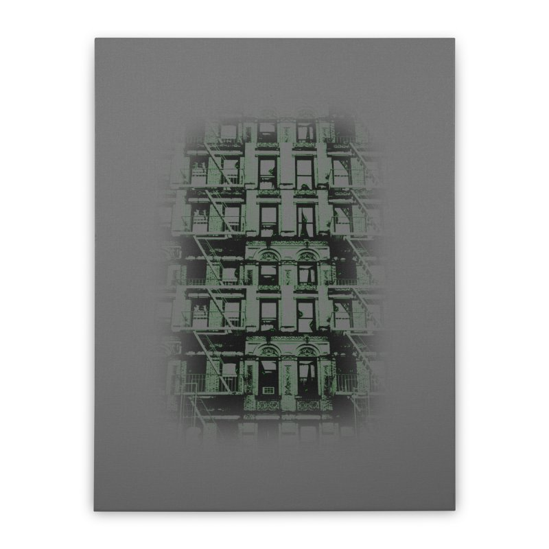 Paranormal Graffiti Home Stretched Canvas by jerbing's Artist Shop