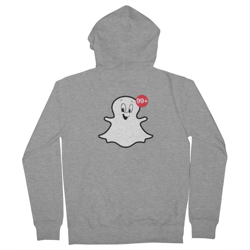 Friendly Ghost Men's Zip-Up Hoody by jerbing's Artist Shop
