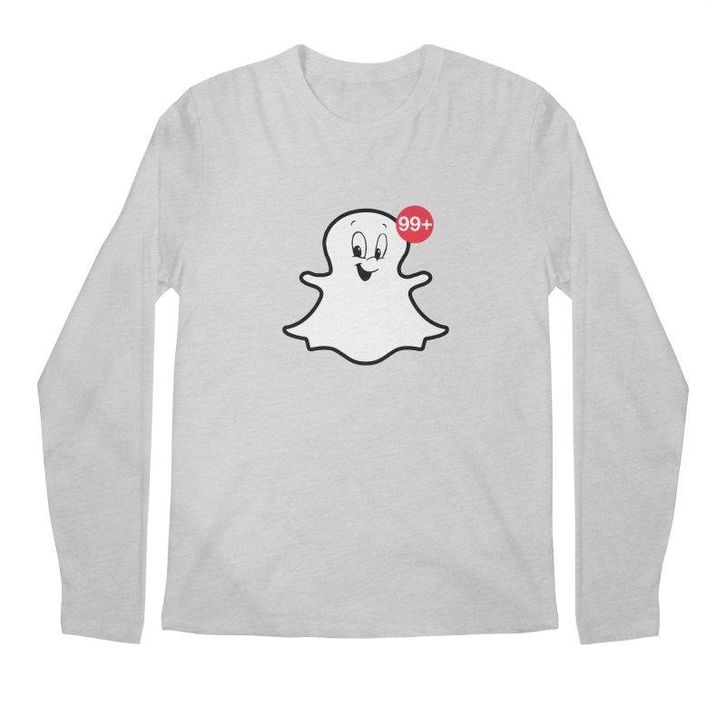 Friendly Ghost Men's Longsleeve T-Shirt by jerbing's Artist Shop