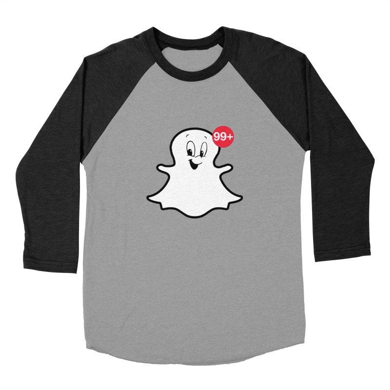 Friendly Ghost Men's Baseball Triblend T-Shirt by jerbing's Artist Shop