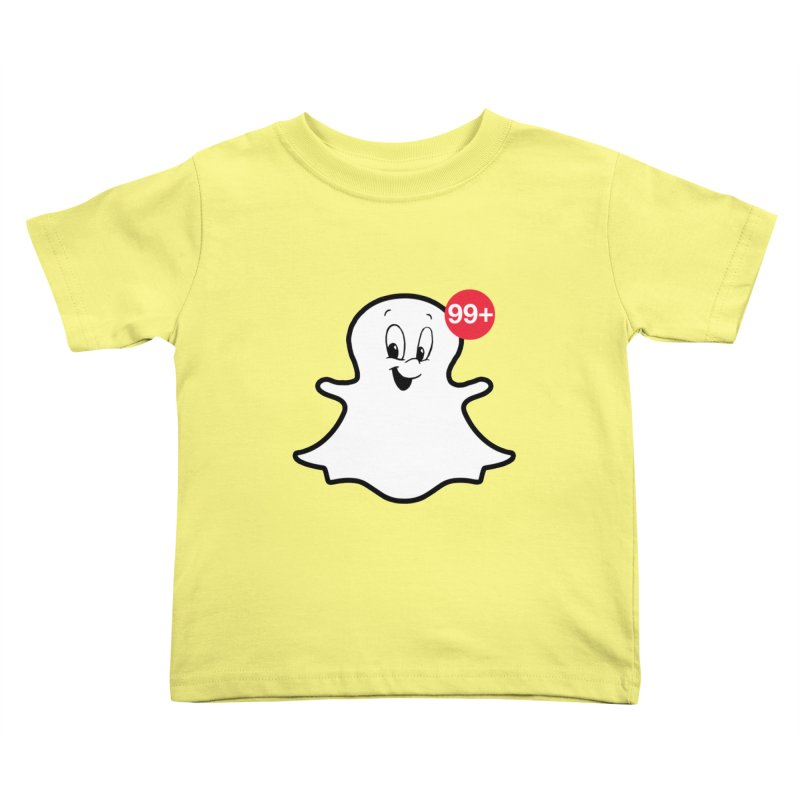 Friendly Ghost Kids Toddler T-Shirt by jerbing's Artist Shop