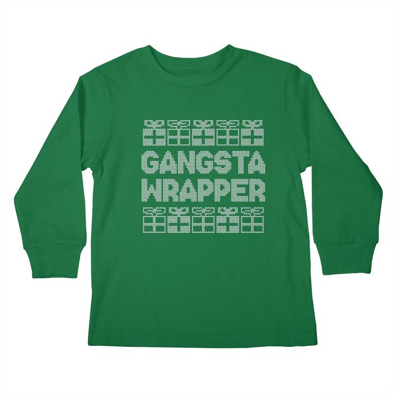 Gangsta Wrapper Kids Longsleeve T-Shirt by jerbing's Artist Shop