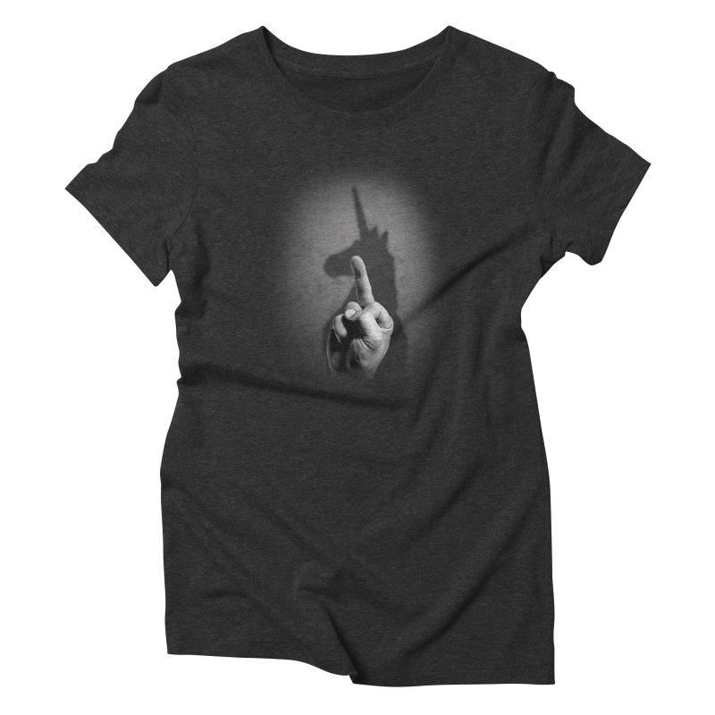 EFFUnicorn in Women's Triblend T-Shirt Heather Onyx by jerbing's Artist Shop