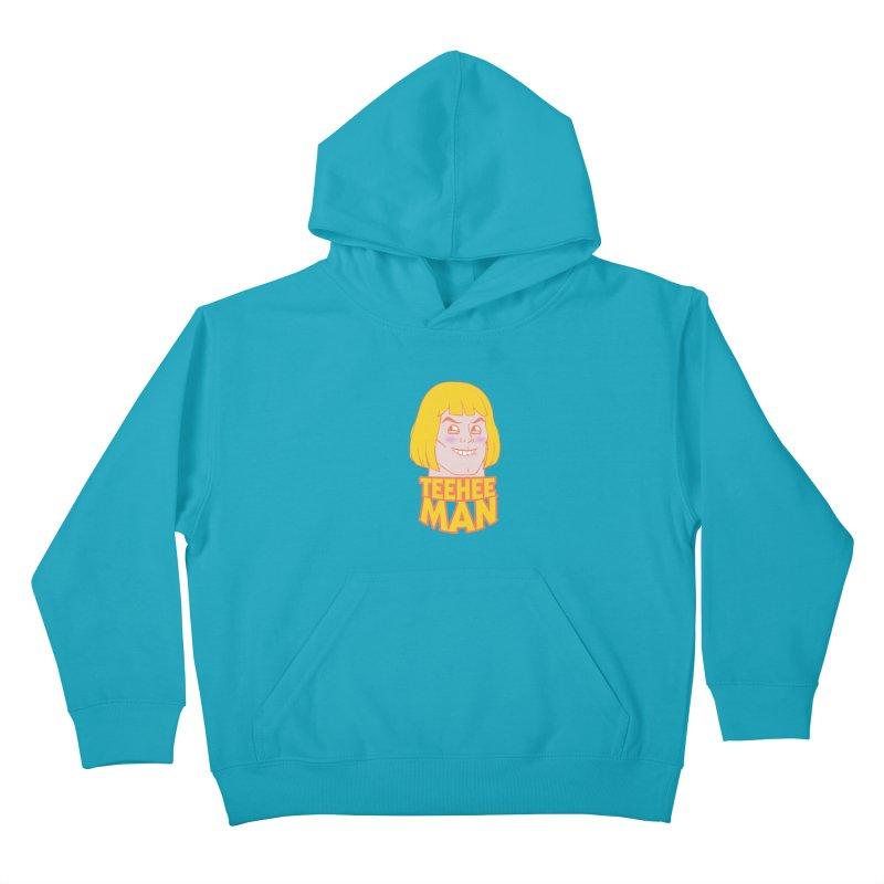 tee hee man Kids Pullover Hoody by jerbing's Artist Shop