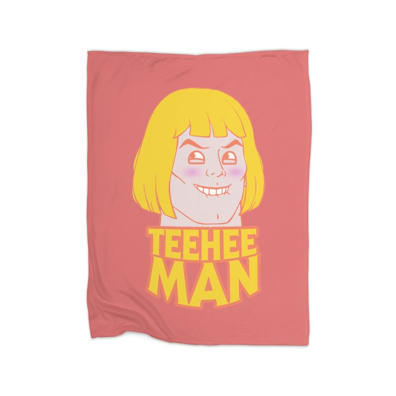 tee hee man Home Blanket by jerbing's Artist Shop